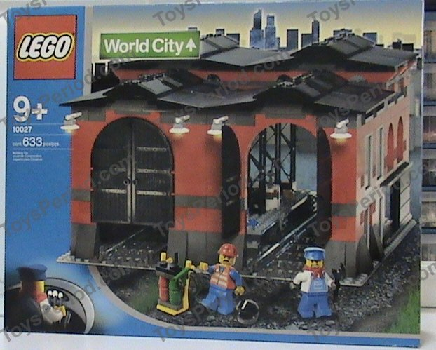 lego train shed 10027 instructions