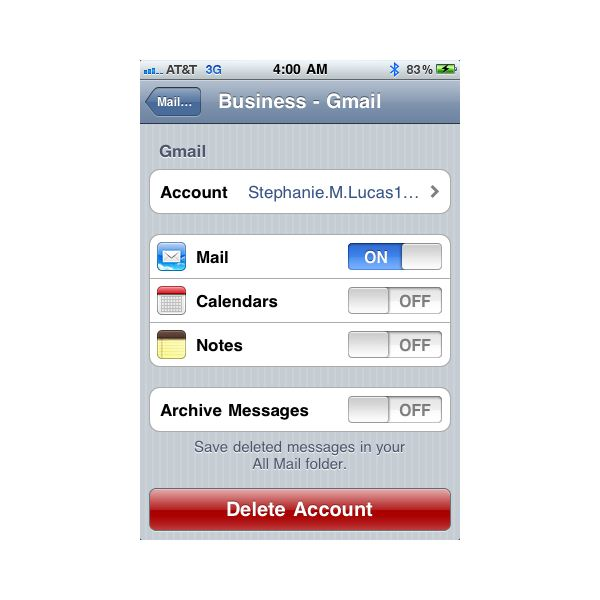 configuration instructions to set up bigpond email in iphone 6