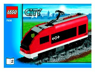 lego city passenger train instructions 7897