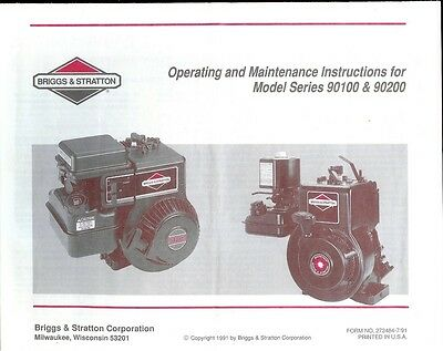 briggs stratton service and repair instruction book