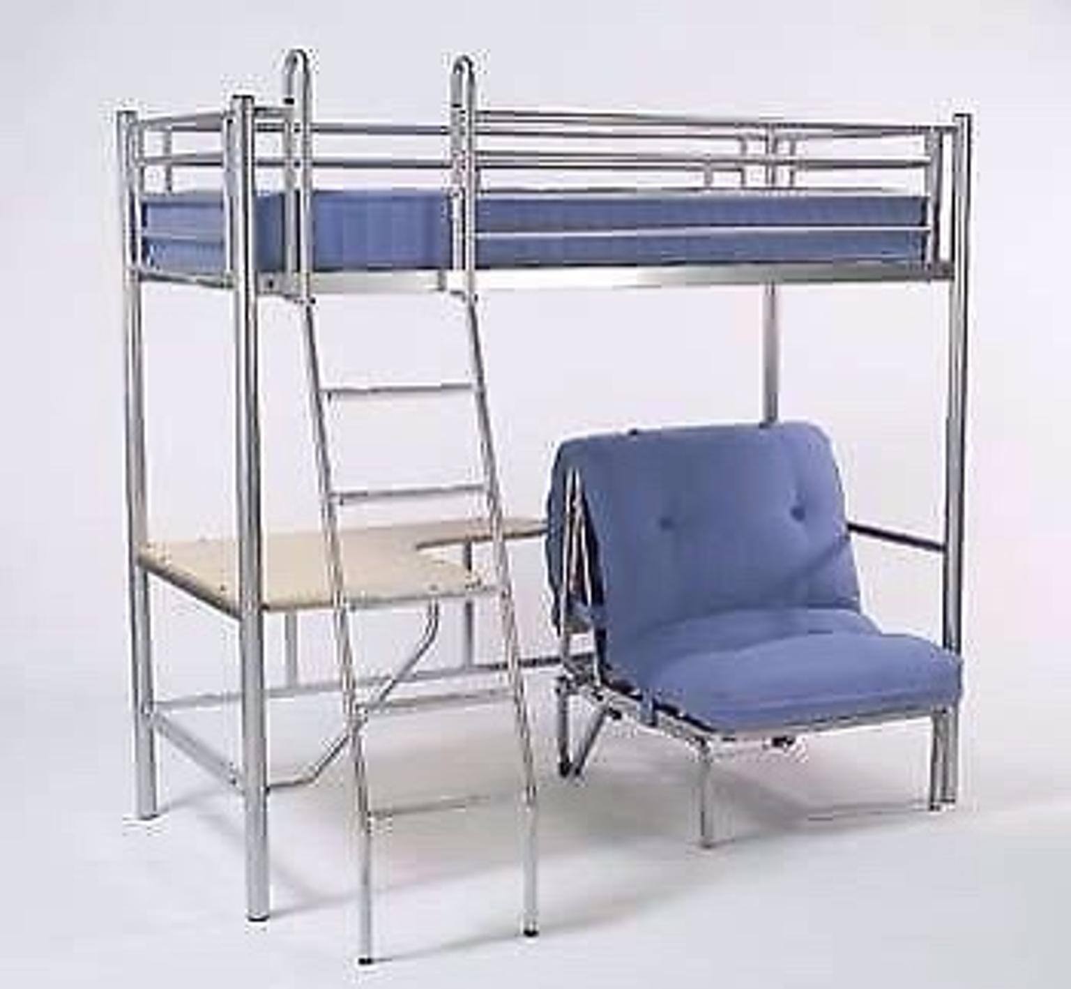 metal cabin bed with desk instructions