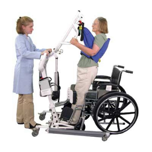 instructions to patients for stand-up lifter