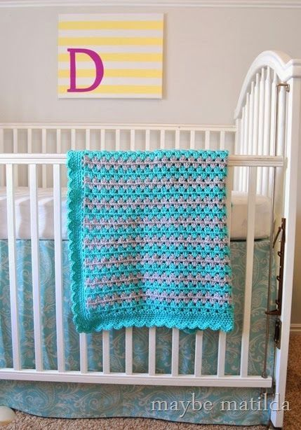 crochet granny stripe instructions