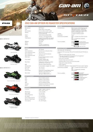 2011 can am spyder roadster operator instructions