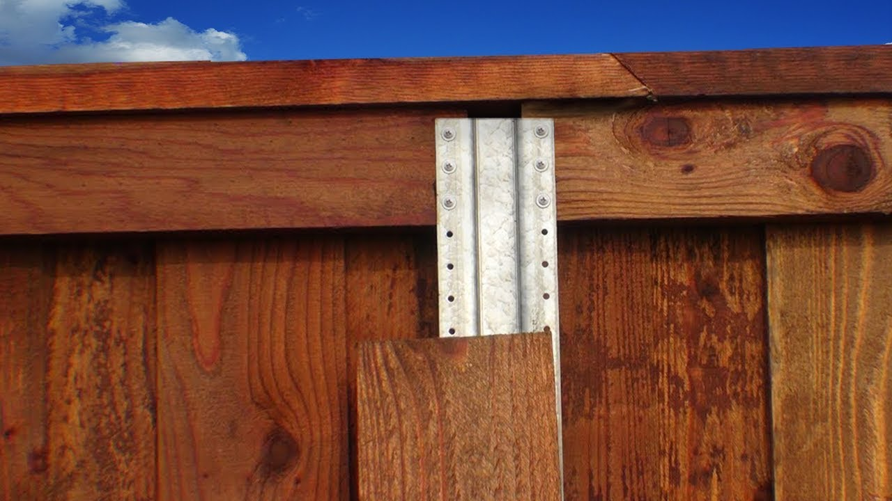 wooden fence installation instructions
