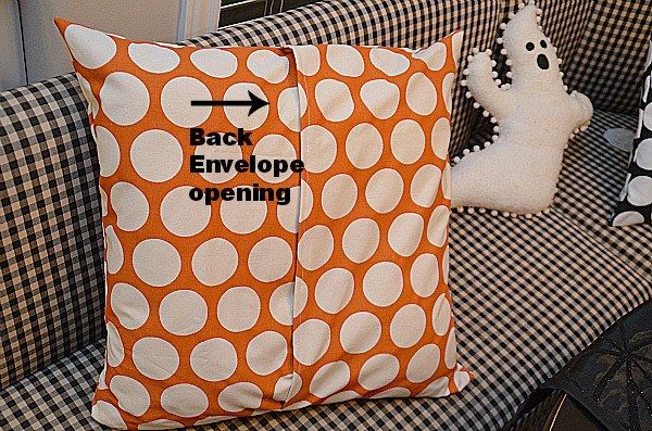 envelope pillow cover instructions