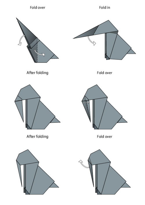 origami universal puppet instructions