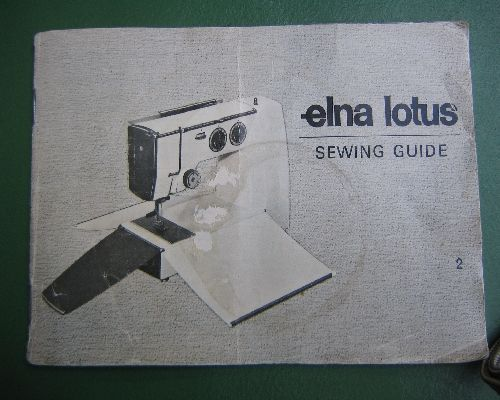 elna lotus sp sewing machine instructions