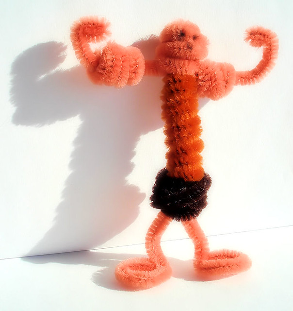 pipe cleaner muscle man instructions