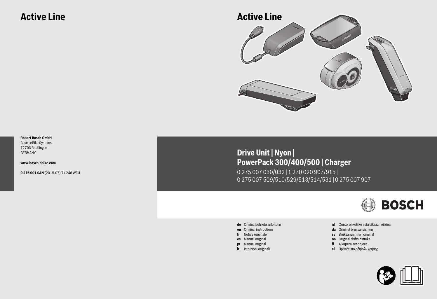 instructions for bosch c7 charger