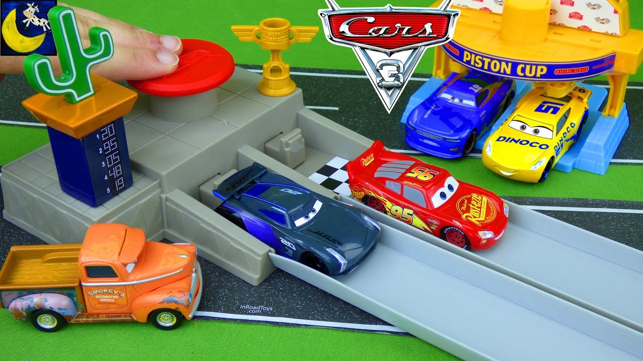 disney cars race track instructions