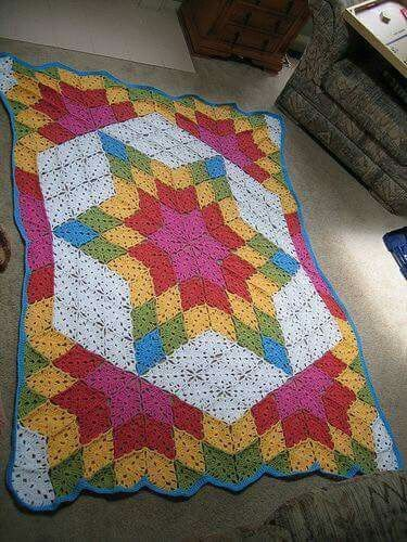 easy instructions how to make a crochetted granny square