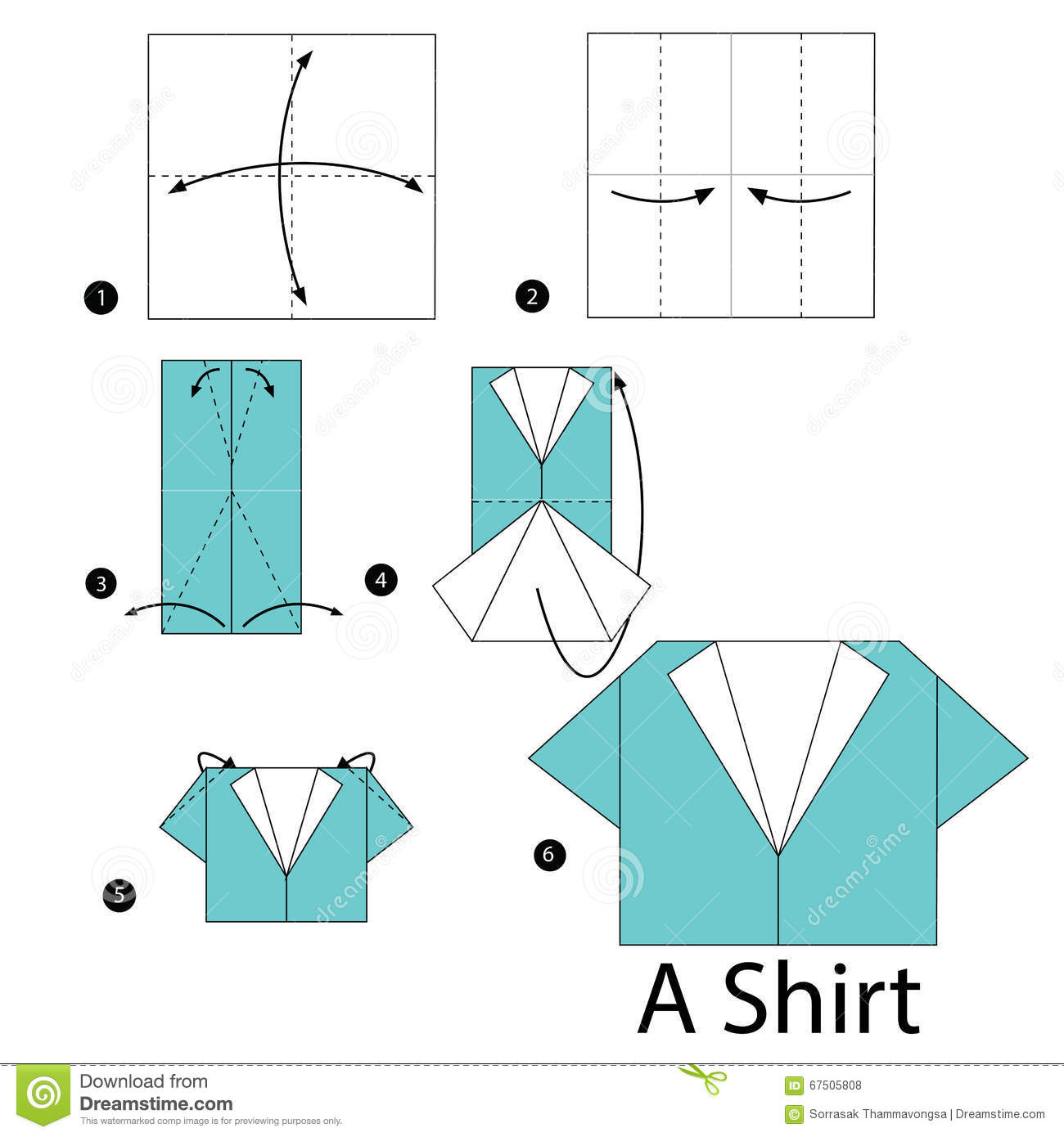 easy origami shirt instructions