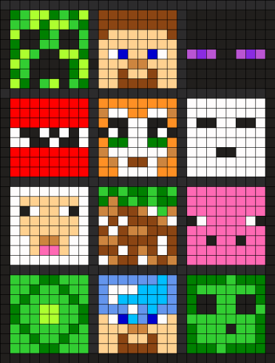 minecraft pixel art instructions