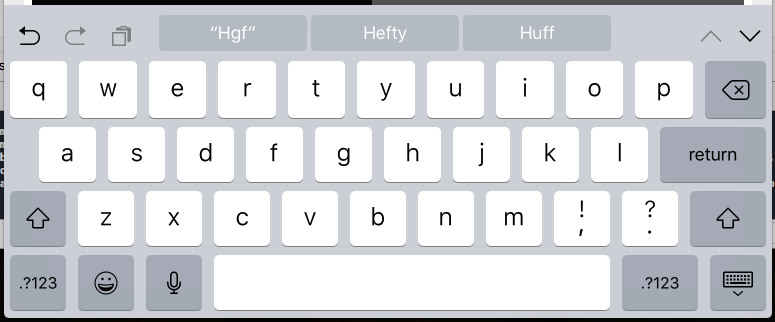 keyboard instruction up and down