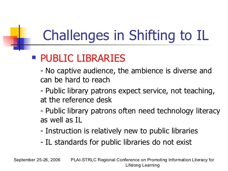 information literacy instruction in public libraries