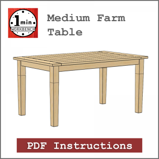farm table building instructions