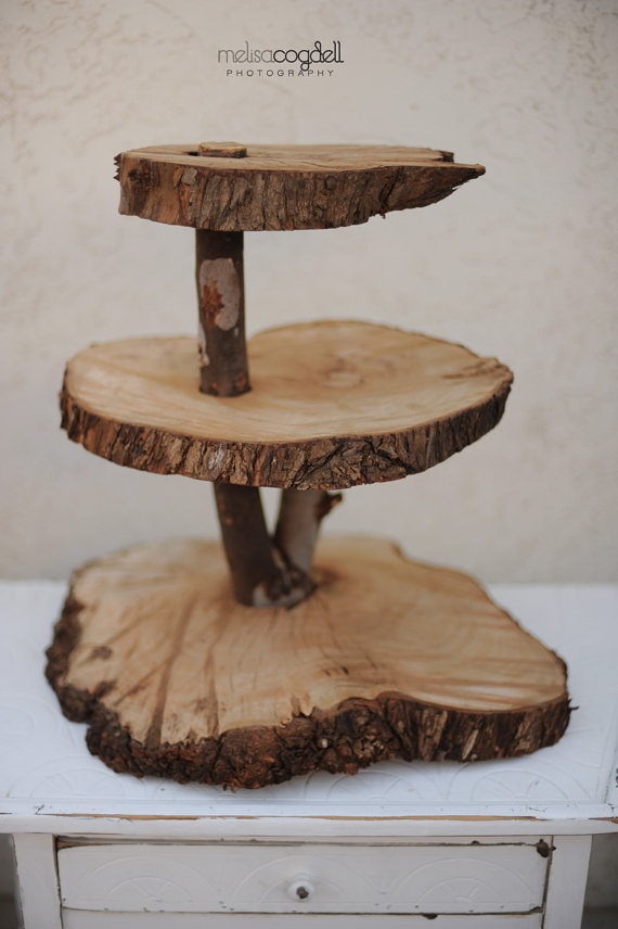 rustic cupcake stand instructions