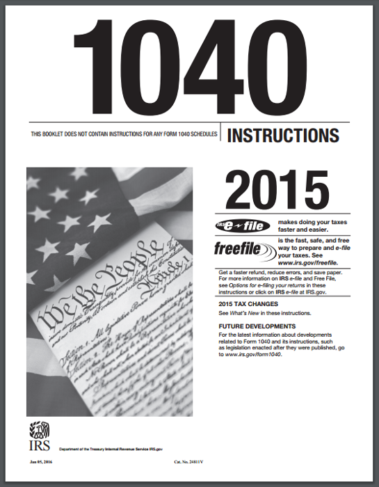 2015 irs 1040ez instructions