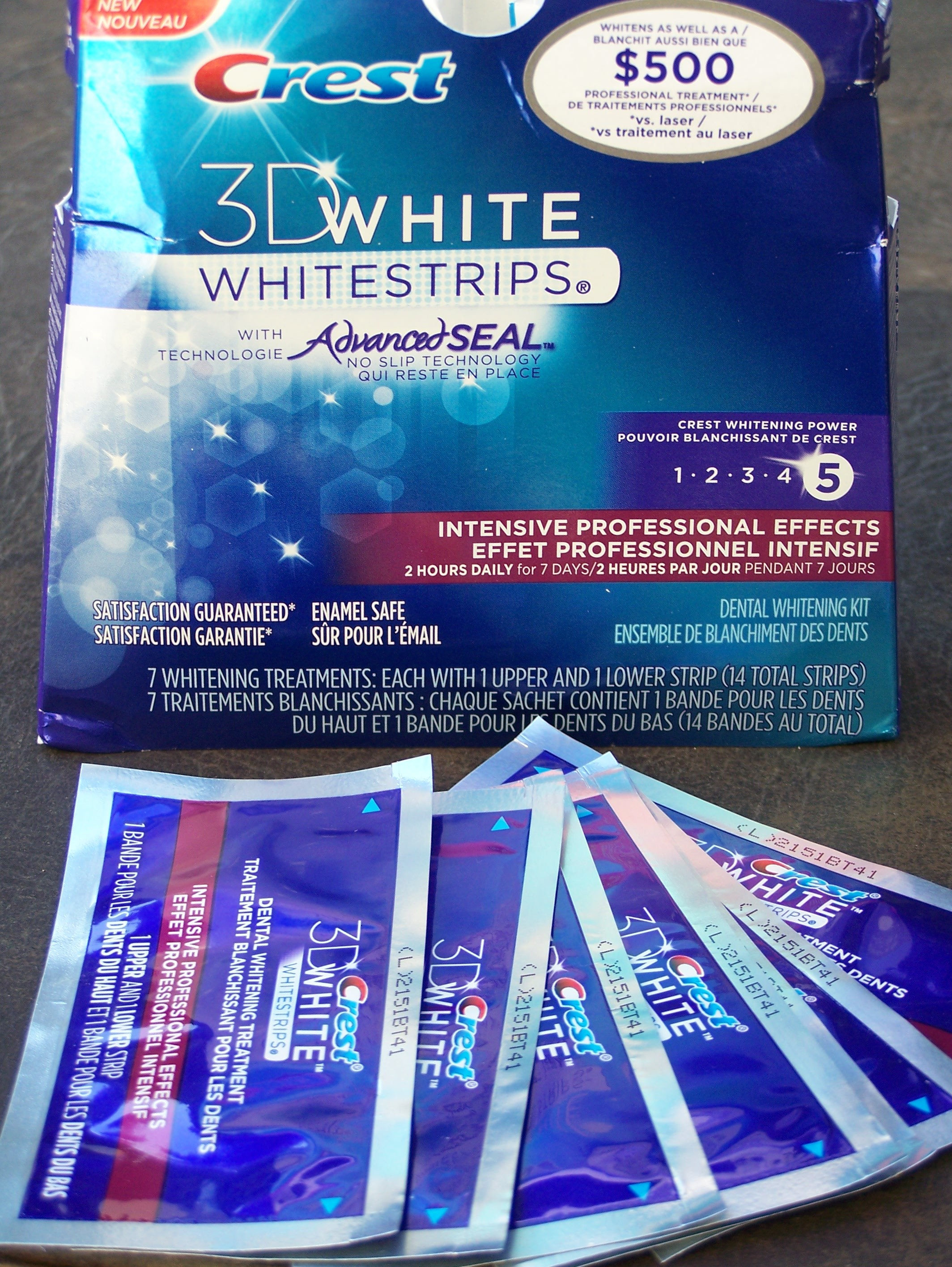 3d white strips intensive professional effects instructions