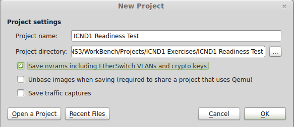 gns3 workbench exercise instructions