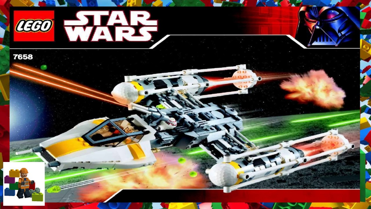 y wing fighter lego instructions