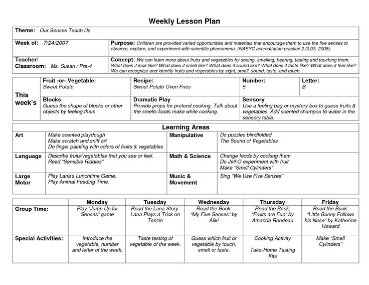 sample instructional plan in science