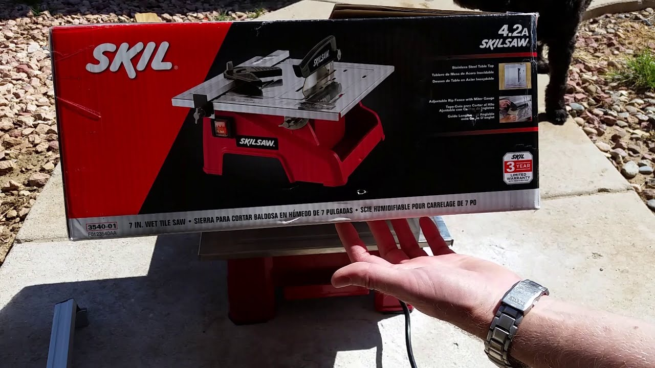 skilsaw 3540 tile saw instructions