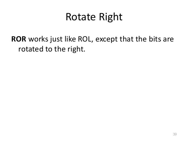shift rotate instructions 8086