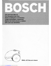 bosch vacuum cleaners instructions