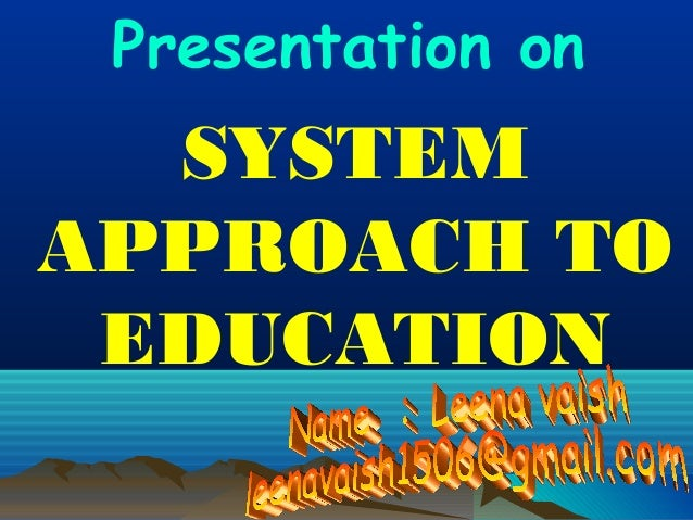 system approach to instruction
