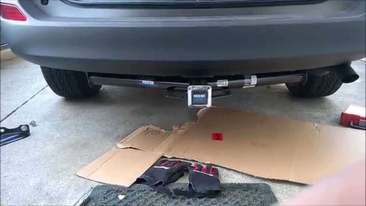 rav4 tow bar fitting instructions