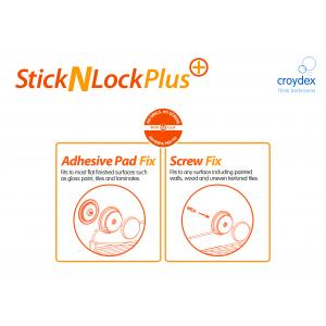 croydex stick n lock shower rail instructions