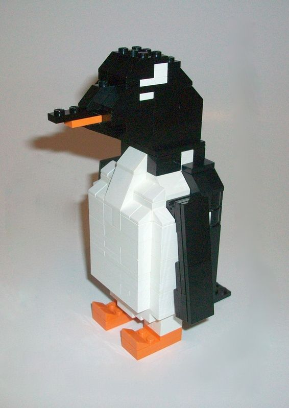 make a penguin from lego instructions