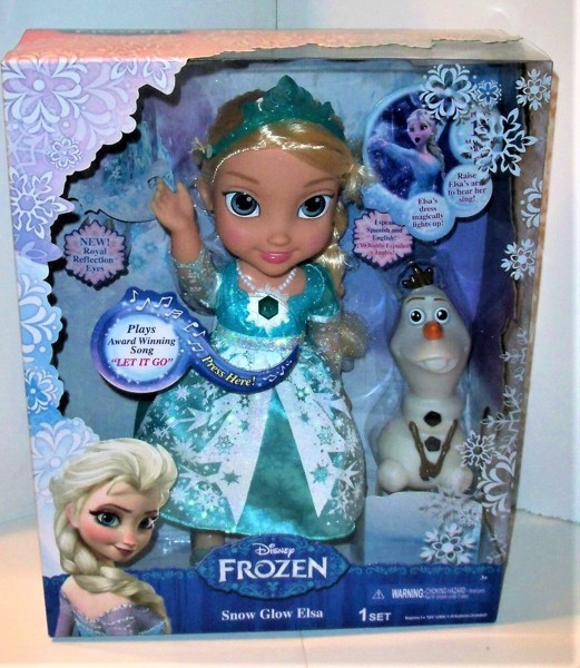 instructions singing elsa doll
