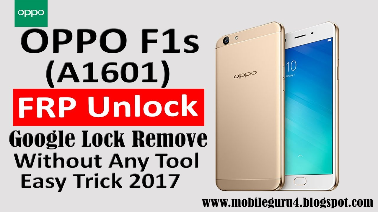 unlock instruction for oppo f1s