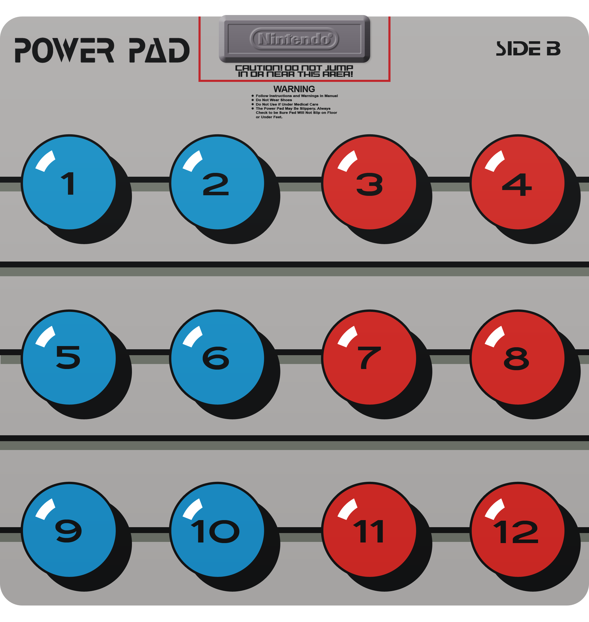 nes power pad instructions