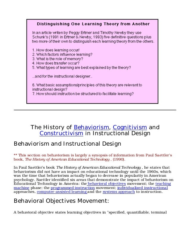 concept of instructional design