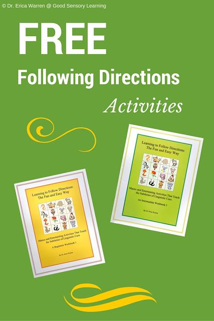 activities to support listening to instructions stage 3