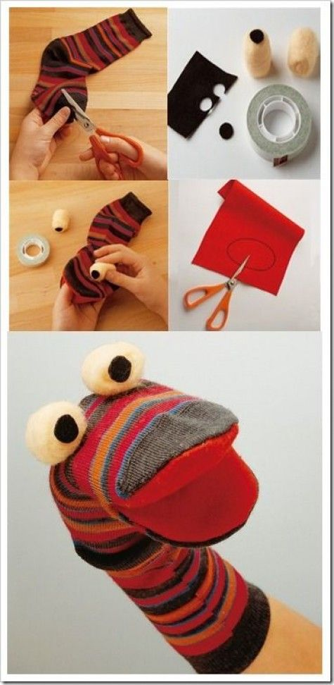 instructions how to make a sock puppet