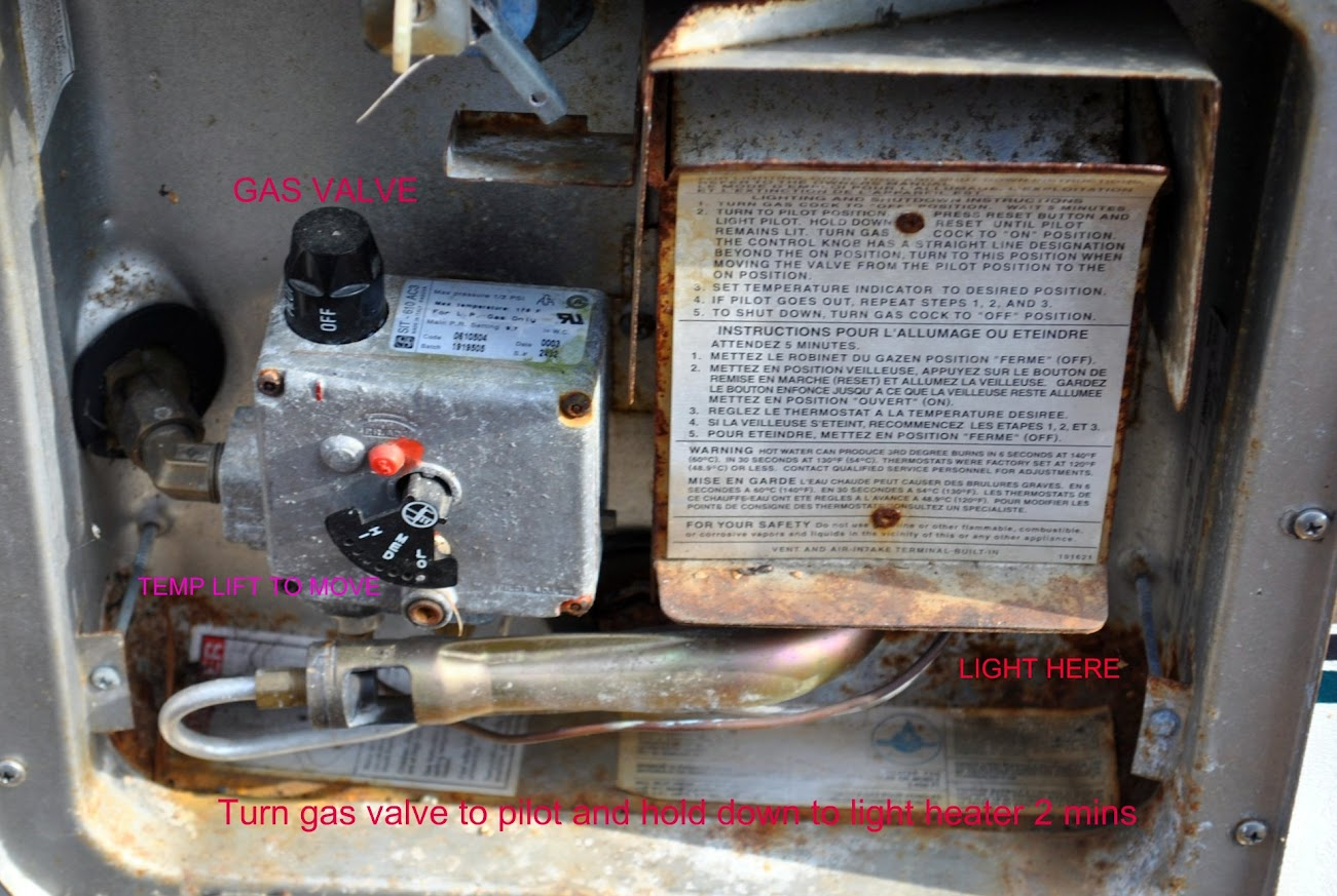 lighting instructions for suburban hot water system