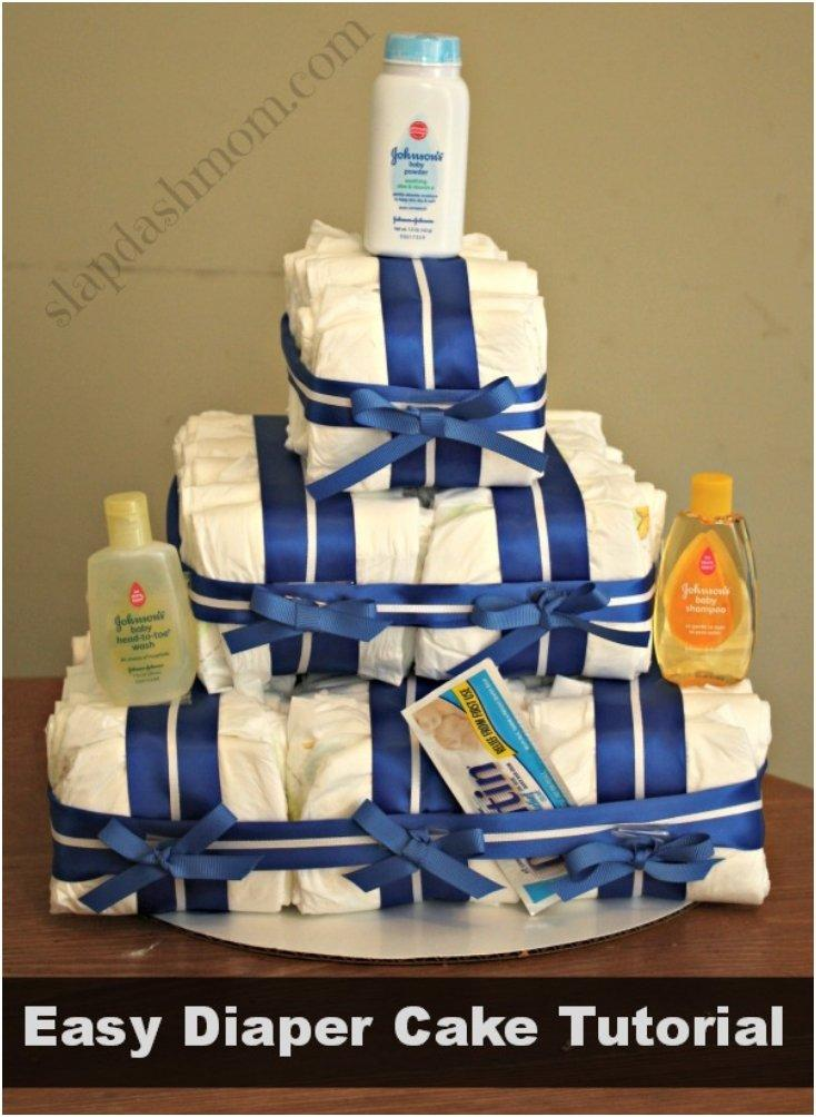 easy small diaper cake instructions