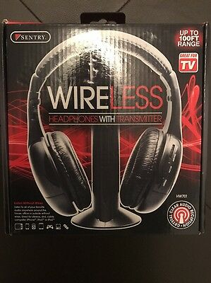 sentry hw701 wireless headphones with transmitter instructions