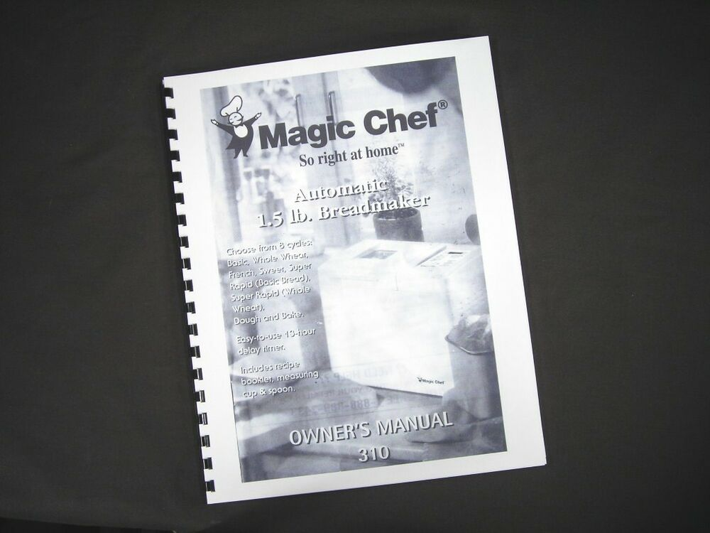 chef upright instruction manual