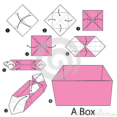 origami instructions step by step box