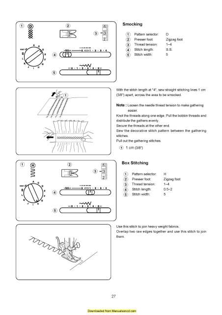instructions for sewing machine janome 419s
