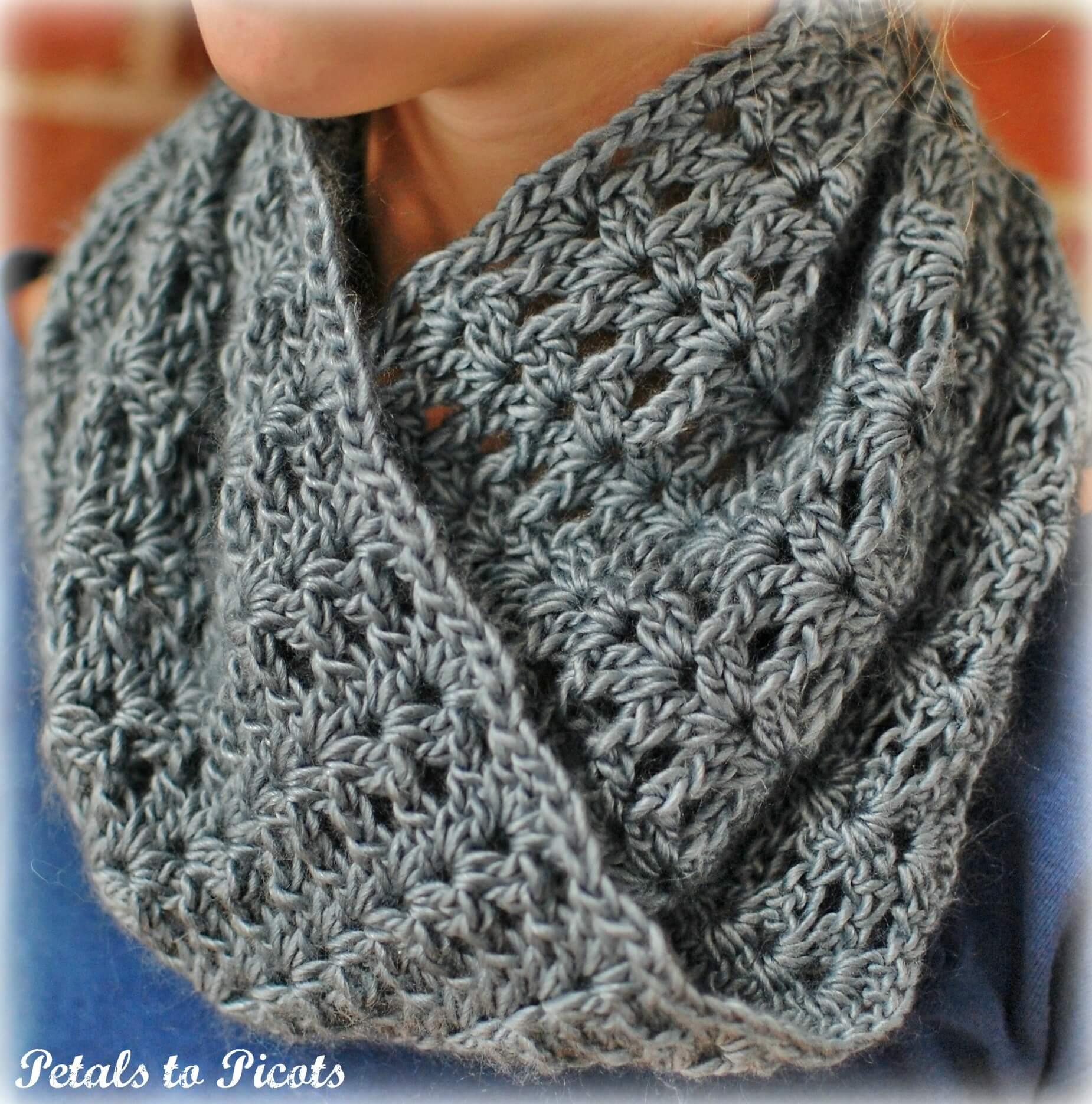 free crochet instructions for infinity scarf