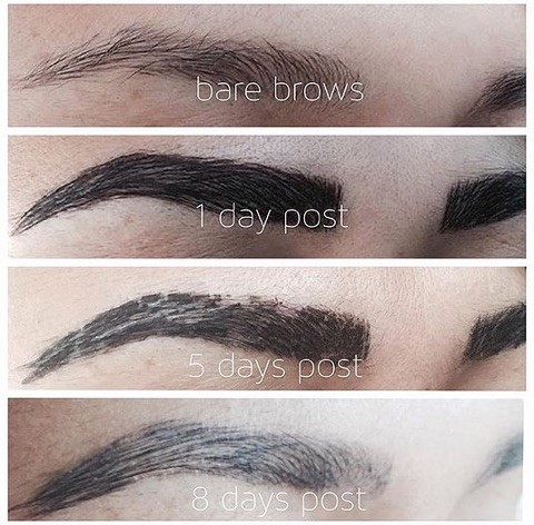 after care instruction eyebrows