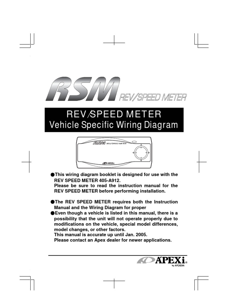 apexi rev speed meter instruction manual