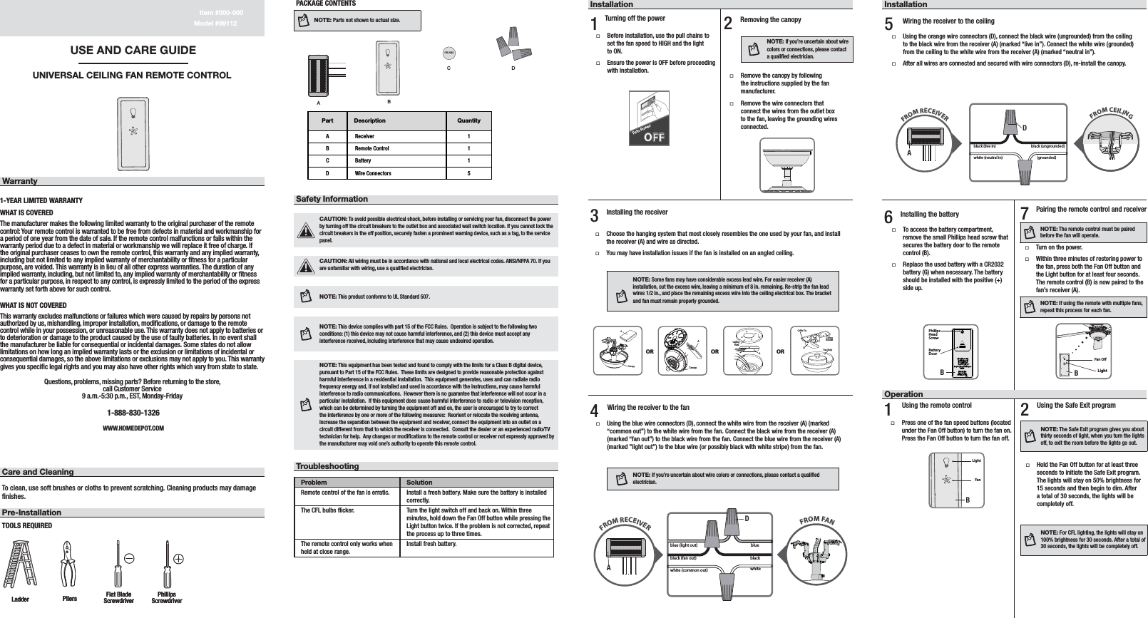 assembly instructions of infinity fan